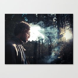 smoking guy Canvas Print