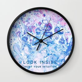 Look Inside: Trust Your Intuition Wall Clock