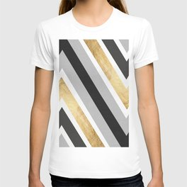 Gray and gold composition IV T-shirt