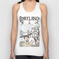 oregon Tank Tops featuring Portland, Oregon by Brooke Weeber