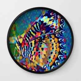Butterfly Pizazz | Oil Painting Wall Clock