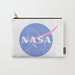 Pastel Nasa Logo Carry-All Pouch
