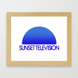 Sunset Television Logo Blue Framed Art Print