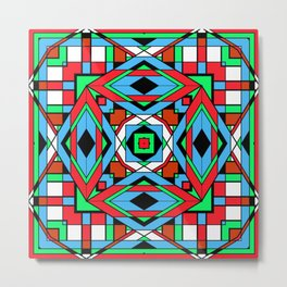 The Color Cubes - Multi 2 Red Metal Print