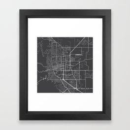 Boulder Map, USA - Gray Framed Art Print