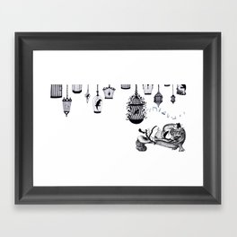 The Nightingale and the Emperor Framed Art Print