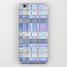 Abstract pattern with lace decorative bands. iPhone Skin