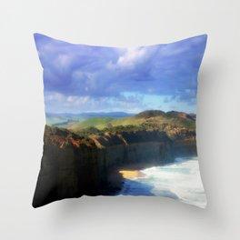 Southern Ocean Headlands Throw Pillow
