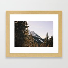 Snow Mountain in the Trees Framed Art Print