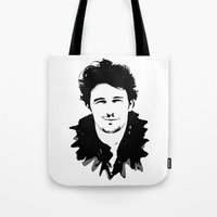 james franco Tote Bags featuring james franco by looseleaf