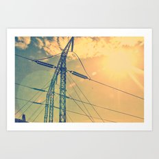 Holding The Power Art Print
