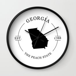 Georgia - The Peach State Wall Clock