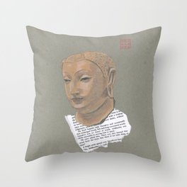 Head of Buddha (Siddartha) Throw Pillow