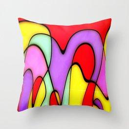 Jolly Mountains Throw Pillow