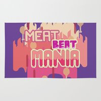steven universe Area & Throw Rugs featuring Steven Universe - Meat Beat Mania by luvusagi