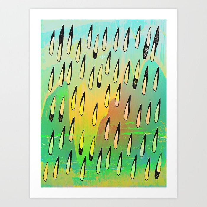Summer Drops Art Print