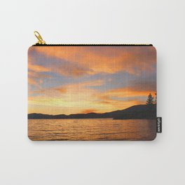 Orange sunset off the Lake Carry-All Pouch