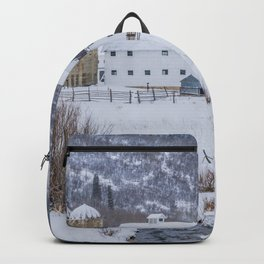 White Barn in Utah Mountains Backpack