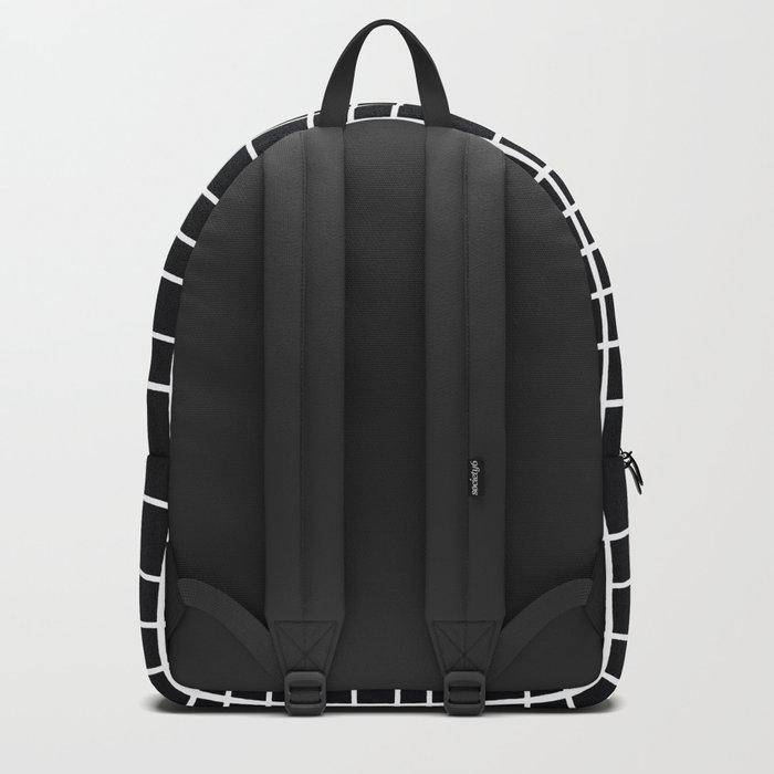 Handdawn Grid Black Backpack
