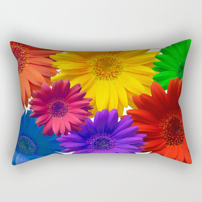 Dance of the Gerberas Rectangular Pillow
