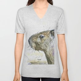 fascinating altered animals - Capybara Unisex V-Neck