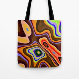 Colourful fluid abstract Tote Bag