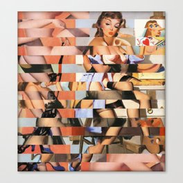 Glitch Pin-Up Redux: Whitney Canvas Print