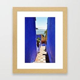 Stairway to Heaven - Careyes, México Framed Art Print