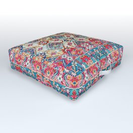 N245 - Vintage Oriental Bohemian Colored Traditional Moroccan Fabric Style Outdoor Floor Cushion