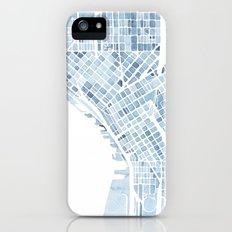 Map Seattle Washington Blueprint watercolor map Slim Case iPhone (5, 5s)
