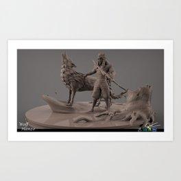 Wolf Hanzo Art Print