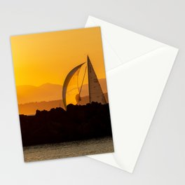 Sailing at Sunset Stationery Cards