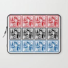AMERICA : Ronald Regan : Tear Down This Wall Laptop Sleeve