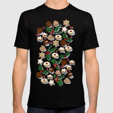 Christmas Treats and Cookies Mens Fitted Tee MEDIUM Black