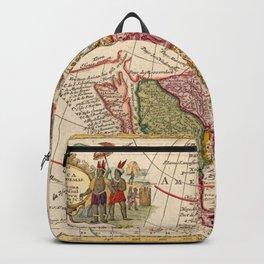 Vintage Map of North America (1760) Backpack