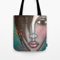 lolita Tote Bags featuring LOLITA by Sandra Mucciardi