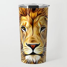 Lion head digital art Travel Mug