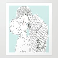 haikyuu Art Prints featuring Kagehina Haikyuu!! by Pruoviare