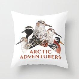 Arctic Shorebirds Throw Pillow