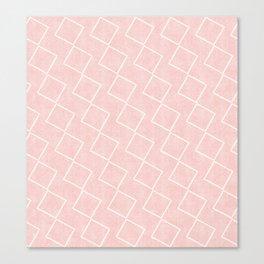 Tilting Diamonds in Pink Canvas Print