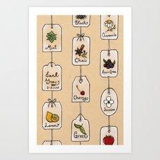 Tea Tag Time Art Print