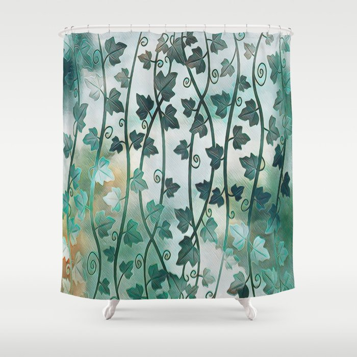 Vines Of Ivy Shower Curtain By Talins