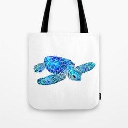 Sea Turtle Watercolor Art Tote Bag
