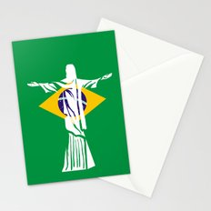Fifa world cup 2014  Brazil Flag Stationery Cards