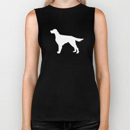 Irish Setter dog silhouette minimal dog breed portrait gifts for dog lover Biker Tank