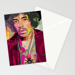 Jimi Hendrix Illustration Stationery Cards