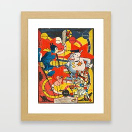 War as a Game Framed Art Print