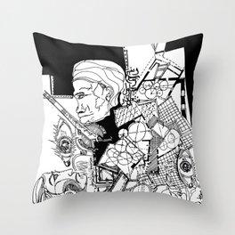 multi personality Throw Pillow