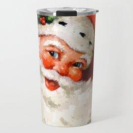 Jolly Ole Santa Pixel Travel Mug