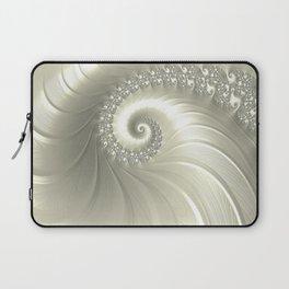 Pearly Fractal Swirl Laptop Sleeve